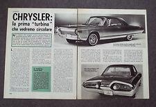 AB85 - Clipping-Ritaglio - 1963 - AUTONOTIZIE CHRYSLER TURBINE