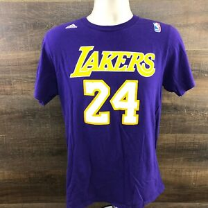 Details about Adidas Kobe Bryant 24 Lakers NBA Men s T-Shirt 408 Cotton  Purple Size Medium 0d903325606a