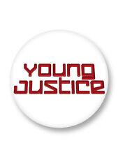 "Pin Button Badge Ø25mm 1"" Logo Young Justice Dc Comics"