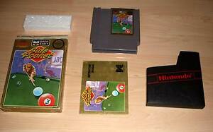 Nintendo-NES-JEU-GAME-module-side-pocket-billard-avec-Housse