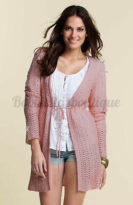 Caritatevole Bulk Buy 10 X Women's Cardigan Knitted Casual Apricot Peachy Boho Hippy 12-16