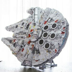 Vertical-Stand-UCS-LEGO-Millennium-Falcon-75192-amp-05132-GRAY-100-REAL-LEGO