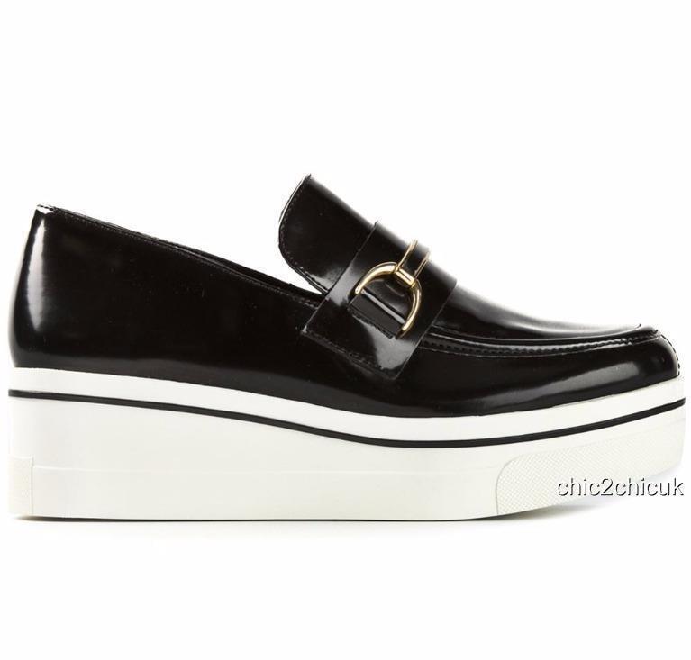 Stella McCartney Negro Negro Negro Mocasines Zapatos Plataforma UK5 EU38 US8 Pisos Regalo Perfecto  disfruta ahorrando 30-50% de descuento