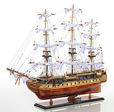 """Copper Bottom USS Constitution Tall Ship Model 38"""" Old Ironsides Wooden New"""