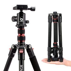 BONFOTO Professional Aluminum Travel Tripod&Ball Head Portable For DSLR Camera