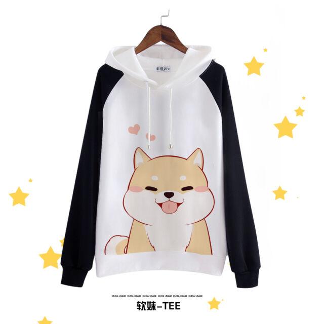 Anime Harajuku Japanese Kawaii Hoodies Sweatshirt Doge Muco Winter Hooded Sweats
