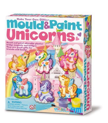 Neu Mould /& Paint Glitter Unicorns Glitzer Einhorn Bastelset Basteln !626