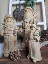 Clayre /& Eef Deko Weihnachtsmann Nostalgie Teddybär Tanne Creme Shabby H.24 cm