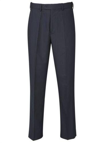 Taille 32-50 L36 SKOPES Extra Grand Flexi taille à plat pantalon avant en bleu marine