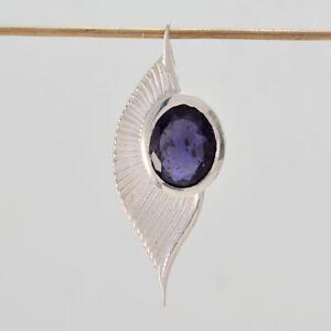 fesselnde-Iolith-925-Sterling-Silber-blau-Anhaenger-echte-suppiler-de-Geschenk
