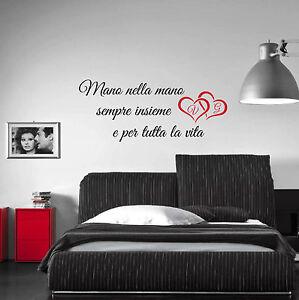Wall Stickers Frase Poesia Amore Aforisma Mano Nella Mano Sempre