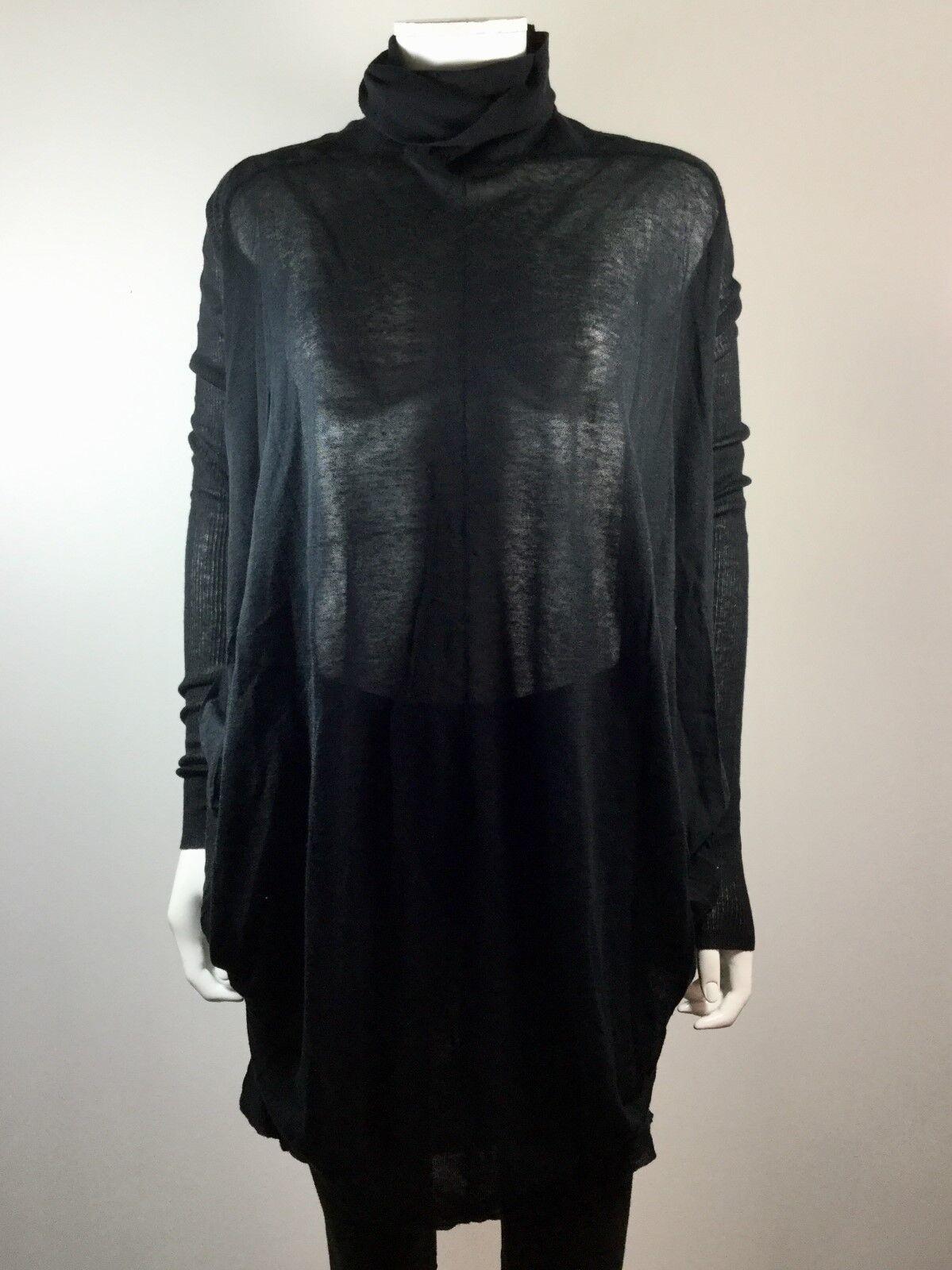 MAX AZRIA schwarz Turtleneck Sweater Dress Größe X Small