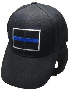 Details about Black Police Thin Blue Line Cap Low Profile Baseball Hat  Support Law Enforcement
