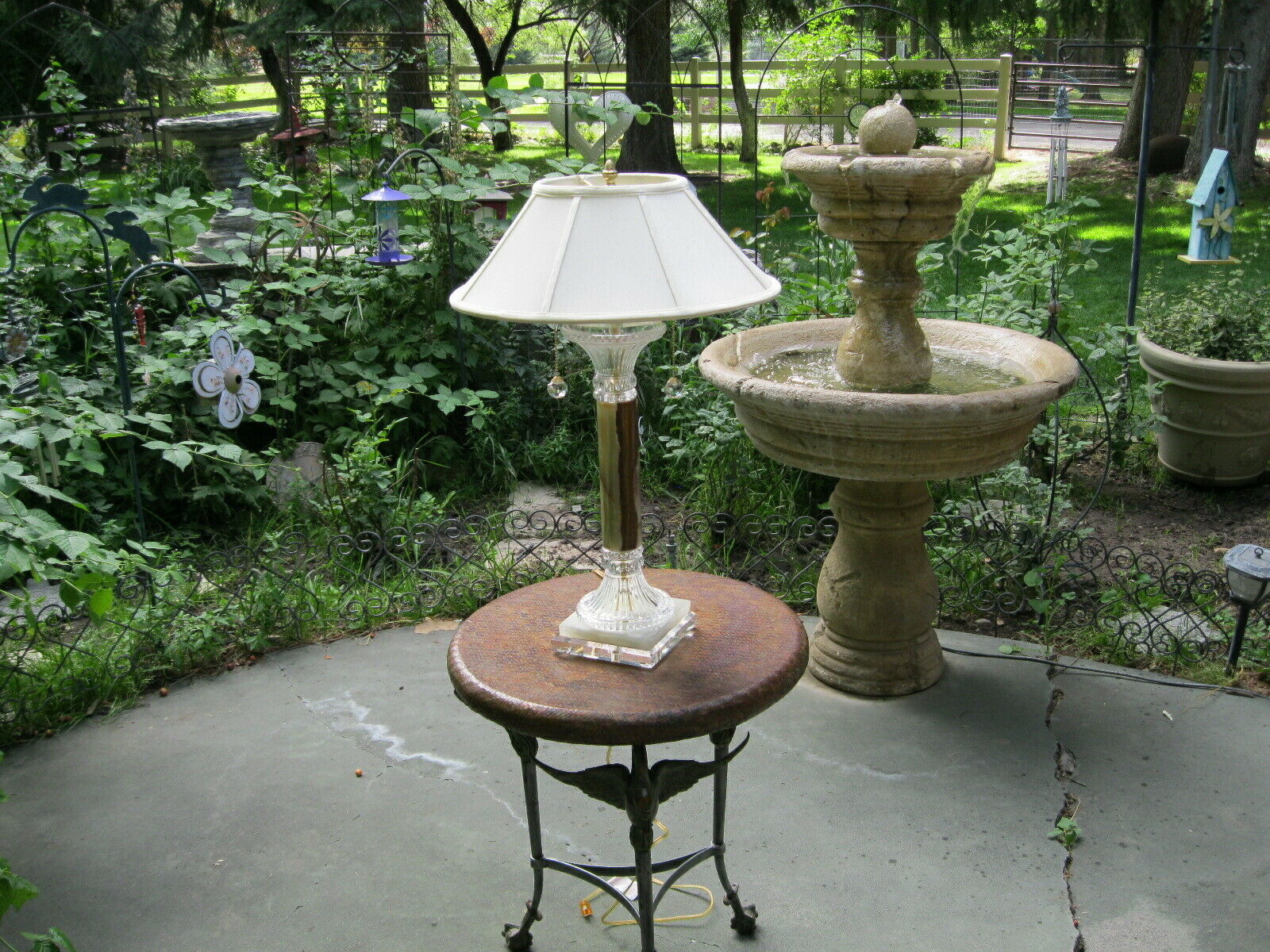 High End Onyx Double Light Table Lamp with Crystal Base MUST SEE