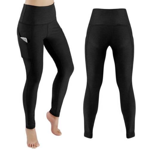 Women High Waist Yoga Pants Pocket Gym Leggings Fitness Sports Running Tight M8