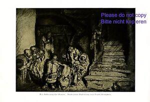 Anbetung der Hirten XL Kunstdruck 1925 Frank Brangwyn Bethlehem Jesukind Maria +
