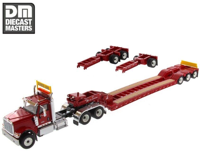 1   50 von druckguss meister 71016 internationalen hx520 rote xl 120 lowboy trailer