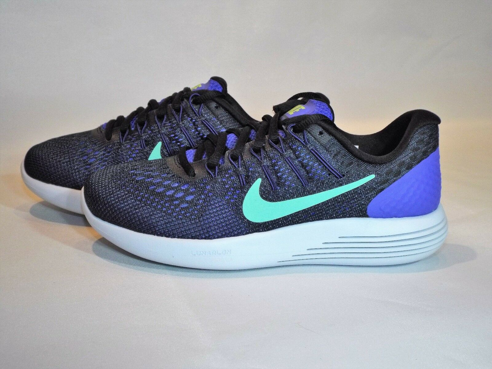 Women's Nike Lunarglide 8 Size 5 (843726 500) Black/Persian Violet/Green Glow
