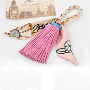Tassel-Leather-Keychain-Keyring-Charm-Pendant-Purse-Bag-Key-Ring-Chain-Gift-shan