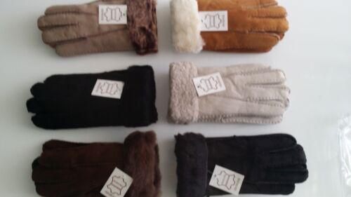 Qualité véritable peau de mouton dames et les adolescents gants