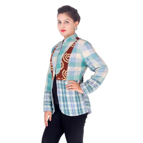 Reversibel Rally Gudri Kjole Indisk Coat Jakke Kantha Håndlavet Vintage gwCq44