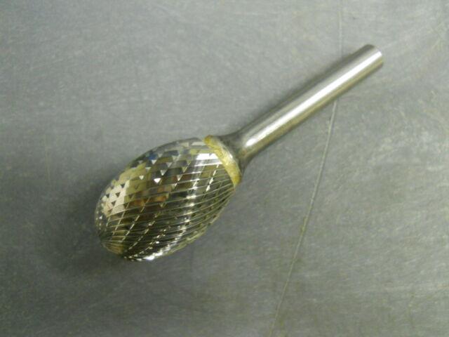 Carbide Bur Bit SA 3//4D x 1L Cut Length Cylindrical Double Cut Burr 1//4 Shank