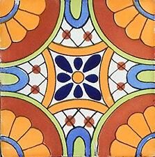 "40 Mexican Talavera TILES Ceramic Mix Patterns 6x6"" Stairs Backsplash C187"