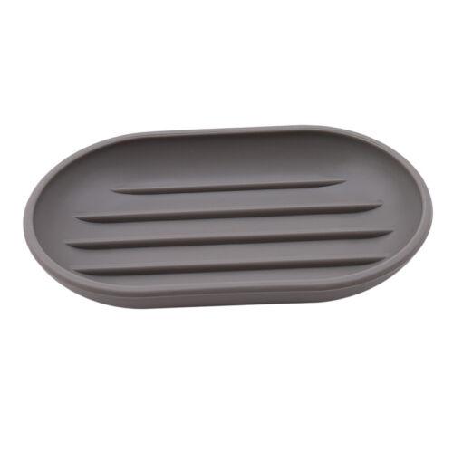 Shower Soap Dish Box Holder Case Soap Storage Plate Draining Tray Bathroom QP