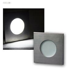 faretto LED a incasso Acciaio inox IP44, 12V DC 1,2W, Luce Spot Lampada da