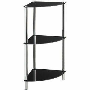 Image Is Loading VonHaus 3 Tier Corner Table Shelves With