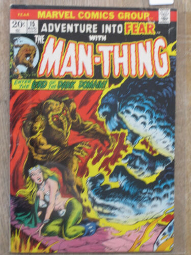 ADVENTURE INTO .. # 12-20  US MARVEL 1972-1974 MAN THING MORBIUS  FN-NM FEAR