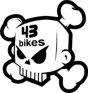 43 bikes-moto-scooter-laptop size-vinyl-sticker Sticker vinyl