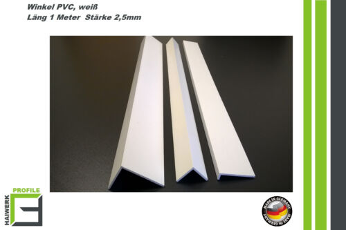 Winkel PVC 20 x12mm - 100 x150mm 1m Kunststoffleisten Abdeckleiste Winkelprofile