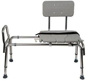DMI Heavy-Duty Sliding Transfer Bench Shower Bath Chair Seat ...