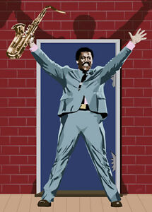 Bruce Springsteen - And The Big Man.. - Original (signed) art print - Jarod Art