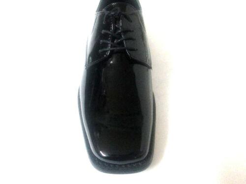Antonio Zengara MEN Black Patent LEATHER DRESS SHOE Laces Z300281-Formal-Tuxedo