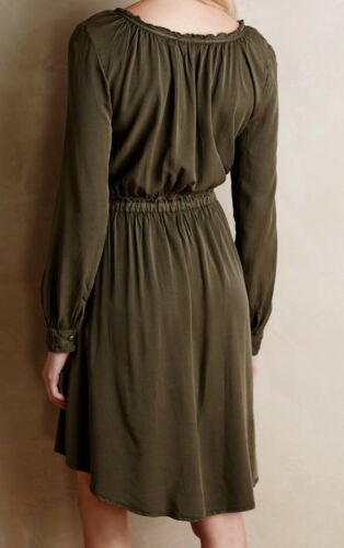 12 Moss Color NW ANTHROPOLOGIE Tag Holding Horses Ocala Shirtdress Sizes 8
