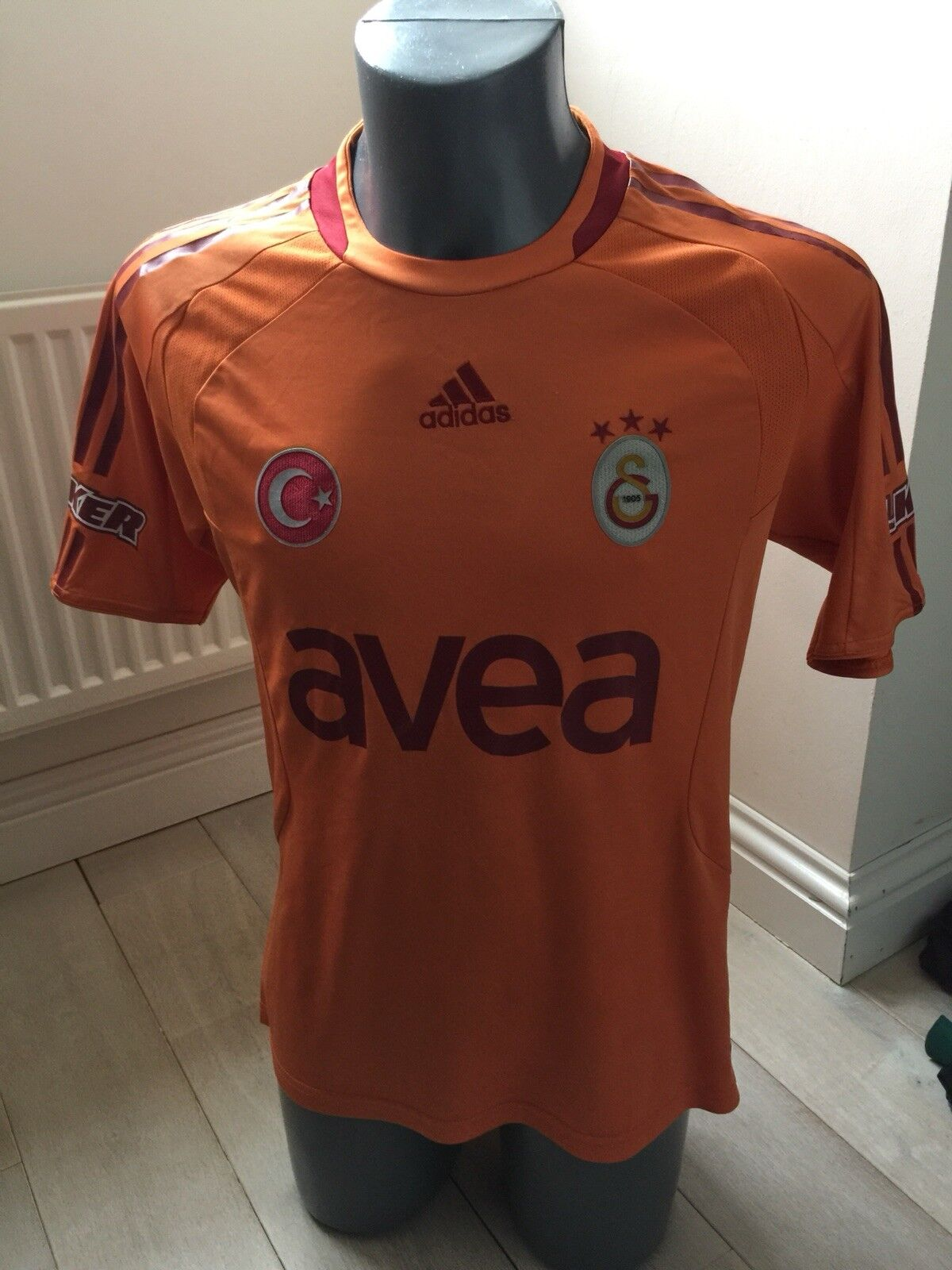 Authentic Galatasary 2008-9 Men's Small Size Away Football Shirt EXC