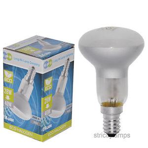 E14-Edison-SES-R50-Reflector-Halogen-Light-Bulb-40-Watt-Energy-Saving-Pack-Of-10