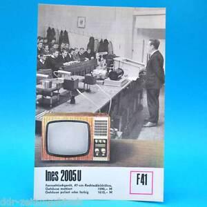 Fernsehtischgerät Ines 2005 U DDR 1970 47-Bildr. Prospekt Werbung DEWAG F41 D - Sachsen-Anhalt, Deutschland - Fernsehtischgerät Ines 2005 U DDR 1970 47-Bildr. Prospekt Werbung DEWAG F41 D - Sachsen-Anhalt, Deutschland