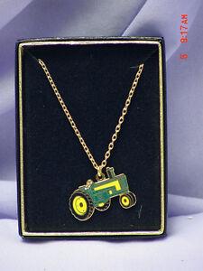 John Deere 560 tractor necklace, NIB