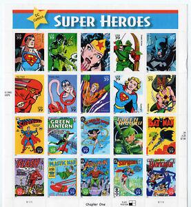 DC-Comics-Super-Heroes-Full-Sheet-of-Twenty-39-Stamps-Scott-4084-Stuart-Katz