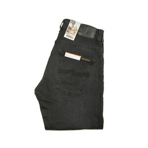 Nudie-Jeans-Dude-Dan-Dusty-Black-Schwarz-gewaschen-Biobaumwolle-112827-Neu
