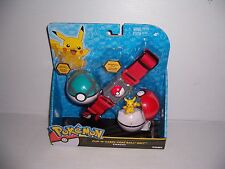 Pokemon Clip 'N' Carry Poke Ball Belt  Pikachu Exclusive Limited Net Ball New!