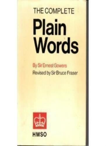 1 of 1 - The Complete Plain Words,Ernest Gowers, Sir Bruce Fraser