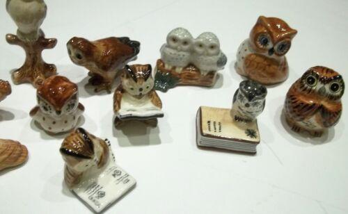 bibelot owl  ****G42-01 lot de 11 chouettes,figurine uil collection hibou