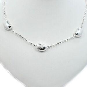 dedb5629a16c Tiffany   Co. Sterling Silver Elsa Peretti 3 Bean Necklace Tiffany ...