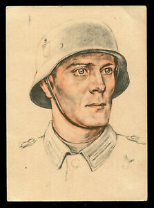 WW2 WWII Germany 3rd Reich Picture Postcard German Soldier Wehrmacht Day 1940