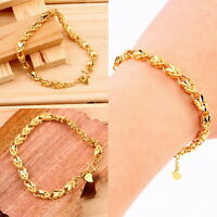 Vacuum Plating 24K Gold Angel Heart Bracelet Emulational Jewelry Bracelet FT