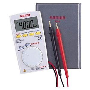 SANWA-pocket-size-digital-multimeter-PM3-Japan-F-S